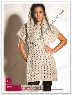 As Receitas de Crochê: Vestido de inverno em crochê