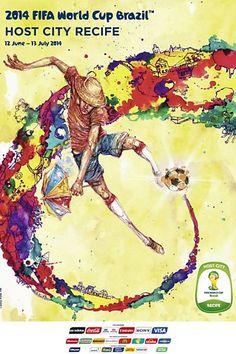 Cartaz de Recife para Fifa World Cup