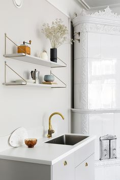 Personal kitchens, wardrobes and storage units built on IKEA cabinet frames. Doors, handles, taps, sinks and tabletops. Quality and design for a reasonable price. Ikea Cabinets, Ikea Hack, Kitchen Dining, Sink, Shelves, Contemporary, Storage, Bagel, Interior