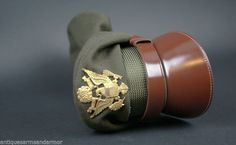 """US WWII Army """"Crusher Style"""" Officer's Cap Mint Original(135)"""