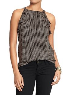 Women's Sleveless  Printed Tops Product Image
