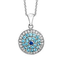 White Gold Evil Eye Necklace  Evil Eye Charm by BinahJewelry, $725.00