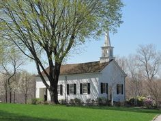 Pretty white church in spring. (fiction) Church where Aubrie's father, Gregory Runnels,  serves as pastor. XX