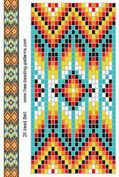 Free Native American Beadwork Patterns   native-american-beadwork-group2-turquoise-belt