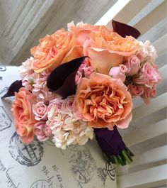Autumn Wedding Bouquet And look!!! It has pink pastel roses :) @Simi Surma