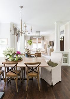 Camille Styles Home Tours - Marie's Timeless Craftsman Home - Marie Flanigan Interiors Classic Dining Space