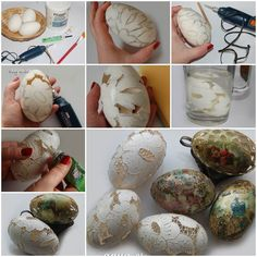 DIY Carved Lace Easter Eggs  https://www.facebook.com/icreativeideas