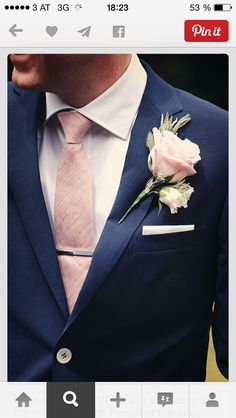 lovely suit... the pink gives it such a great touch!
