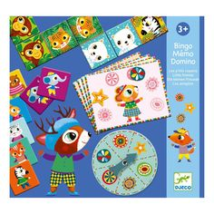 Djeco Little Friends Bingo/Memory/Dominos : From Djeco comes this great 3 in 1 game compendium! Bingo, Memo and Domino are all included in one handy box. There's great fun to be had with these traditional years+In stock items ship within busin…