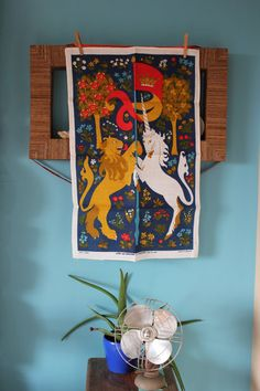 Hey, I found this really awesome Etsy listing at https://www.etsy.com/listing/185925097/vintage-mid-century-lion-and-the-unicorn