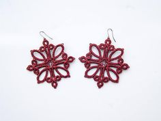 Tatting Earrings, Tatting Jewelry, Tatting Lace, Diy Birthday, Birthday Cards, Diy And Crafts, Arts And Crafts, Tatting Patterns, Needlepoint