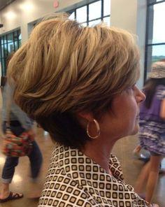 short tapered haircut for older women