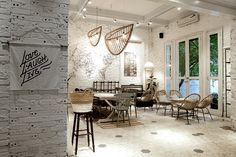 Tiles and lightning ///////Jouri Dessert & Tea by Red5 Studio, Hanoi – Vietnam » Retail Design Blog