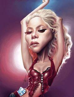 Shakira by Alex Gallego