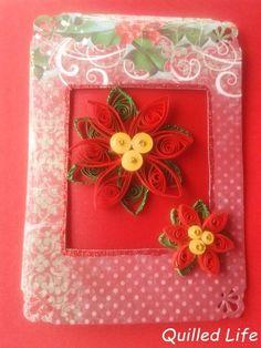 Quilled Life: Świąteczna czerwień #quilling #handmade #handcraft #craft #Christmas #Christmascard #red #flowers #poinsettia