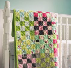 Handmade Baby Quilt by BlueElephantStitch on Etsy, $120.00