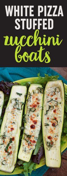 Vegetarian Zucchini Boats, Zucchini Boat Recipes, Veggie Recipes, Keto Recipes, Vegetarian Recipes, Cooking Recipes, Healthy Recipes, Stuffed Zucchini Recipes, Zucchini Pizzas