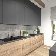 Kitchen Room Design, Kitchen Layout, Home Decor Kitchen, Interior Design Kitchen, Home Kitchens, Contemporary Kitchen Cabinets, Contemporary Kitchen Design, Small Modern Kitchens, Kitchen Models