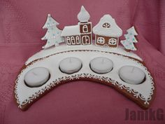 Adventný svietnik / Artmama.sk / Advent gingerbread candle stick