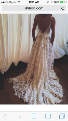 This will be what the back of my wedding dress looks like!