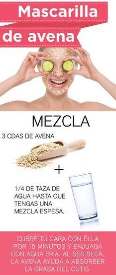 Mascarilla de avena, ideal para nutrir tu piel.