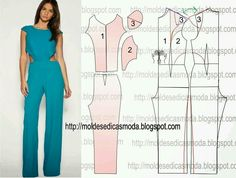 Moldes moda Diy Clothing, Clothing Patterns, Dress Patterns, Fashion Sewing, Diy Fashion, Ideias Fashion, Fashion Outfits, Sewing Pants, Sewing Clothes