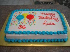 birthday+sheet+cakes | Simple Birthday cake - Sheet cake
