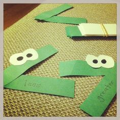 an easy summer teaching resource... just some green and white construction paper, glue, and a black marker :)  VOILA!