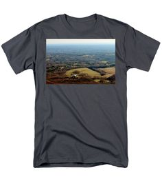 Morrow Mountain Men's T-Shirt (Regular Fit) featuring the photograph View From The Top by Cynthia Guinn