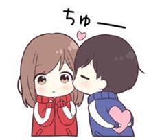 jersey kun 2 – LINE Stickers | LINE STORE Anime Girl Neko, Chibi Girl, Cute Anime Chibi, Anime Girl Cute, Anime Love, Kawaii Anime, Anime Couples Drawings, Cartoon Drawings, Cute Drawings