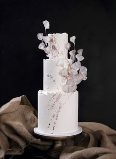 6 Wedding Cake Trends in 2020 Black Wedding Cakes, Amazing Wedding Cakes, Fondant Wedding Cakes, Wedding Cupcakes, Pretty Cakes, Beautiful Cakes, Cake Trends, Fashion Cakes, Wedding Cake Designs