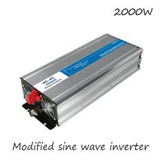 DC-AC 2000W Modified Sine Wave Inverter 12V To 220V Frequency Converter Voltage Electric Power Supply Digital Display USB China #Affiliate