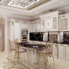 With these exquisite luxury kitchens on display below, we are sure that you will build a beautiful spot in your home. A kitchen is the heart of a your home and must look aesthetic and functional. Besides being comfortable from… Continue Reading → Luxury Kitchen Design, Best Kitchen Designs, Luxury Kitchens, Luxury Interior Design, Cool Kitchens, Classic Kitchen, Rustic Kitchen, Diy Kitchen, Kitchen Decor