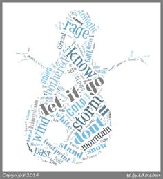 "Disney Frozen ""Let it go"" lyrics Christmas Words, Christmas Past, Christmas Bulbs, Word Cloud Art, Word Clouds, Let It Go Lyrics, Tagxedo, Frozen Let It Go, Winter Words"