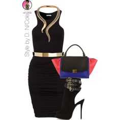 Untitled #2328 by stylebydnicole on Polyvore featuring polyvore, fashion, style, Giuseppe Zanotti, CÉLINE and ASOS
