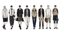 Fashion Illustrator Mengjie Di: New Work for Stylesight SS13 Men`s Trend