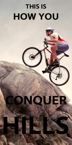 TOP TIPS ON HOW TO CONQUER HILLS: http://thecyclingbug.co.uk/health-and-fitness/training-tips/b/weblog/archive/2014/01/21/6-top-tips-on-how-to-conquer-hills.aspx?utm_source=Pinterest&utm_medium=Pinterest%20Post&utm_campaign=ad  If you've never learned how to ride up hills properly they can be about as much fun as cleaning your chain.     But if you follow our tips, climbing will become a part of your ride that you look forward to as much as the descents... #thecyclingbug #cycling #hills