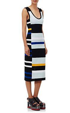 Proenza Schouler Striped Crochet Dress - Dresses - 504987541