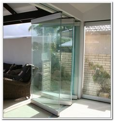 Stacking Sliding Glass Doors Folding Partition Wall Frameless ...