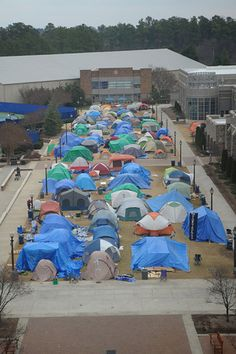 Tent in K-Ville (part of the Duke Bucket List - did everything on that list except study abroad :( booo)