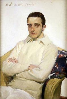 'Portrait of José Luis López de Arana Benlliure' by Joaquín Sorolla.