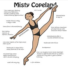 Misty Copeland is one of the most influential ballerinas of modern day. She stood up to major injustices in the ballet world. With her action sparked a reform for the ballet stereotype of body & skin color. Our ballet community is no longer conforming to Art Ballet, Ballet Moves, Ballet Dancers, Dance Tutorial, Tutu Tutorial, Ballet Terms, Dance Positions, Dancer Workout, Paige Hyland
