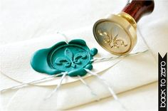 Wax Seal Stamp and twine for inner envelope