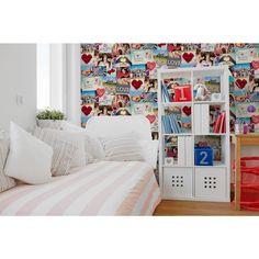 56.4 sq. ft. Cara Multi Collage Wallpaper, Multicolor