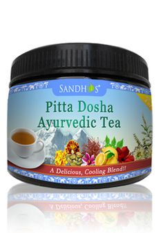 The Pitta Dosha Ayurvedic Tea 2 OZ offers a restorative combination of natural herbs that help in restoring balance to Pitta energy. A perfect answer to a frustrated and uneasy state of mind, the Pitta Dosha Ayurvedic Tea has a soothing and calming effect on the body and mind. www.sandhuproducts.com/Pitta-Dosha-Ayurvedic-Tea-4-Oz-