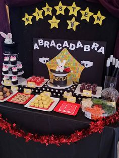 Magic theme birthday cake magician party