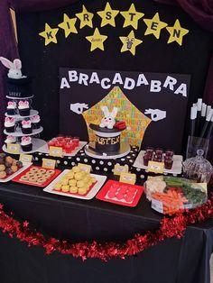 Magic theme birthday cake magician party