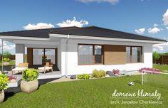 Projekt domu Awokado IV, wizualizacja 3 Bungalow House Plans, Bungalow House Design, Modern House Design, Barn With Living Quarters, Backyard Patio Designs, Concept Home, Dream Home Design, Facade House, Home Fashion
