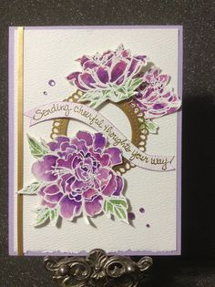 PaperArts Cafe: Sending Cheerful Thoughts Card - Stampendous Stamps
