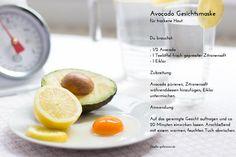 Avocado Gesichtsmaske für trockene Haut - Rezept - Maske